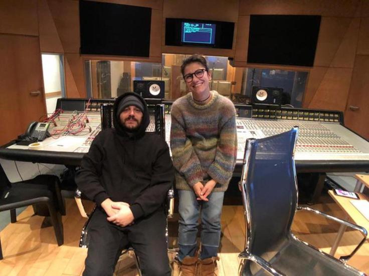 Elisa e Calcutta in studio di registrazione