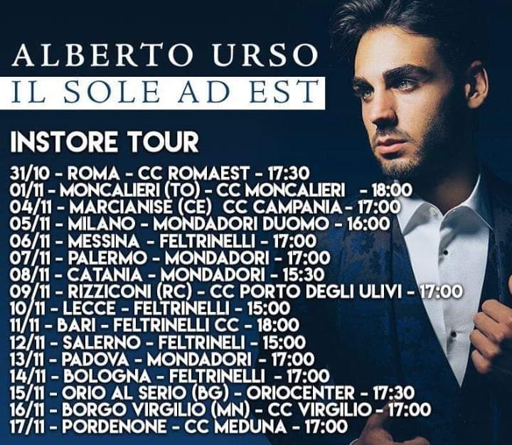 Alberto Urso Il sole ad est Instore