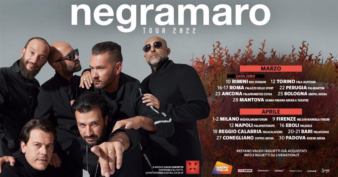 Negramaro date tour 2022