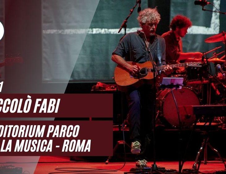 Niccolò Fabi Auditorium Roma 2021